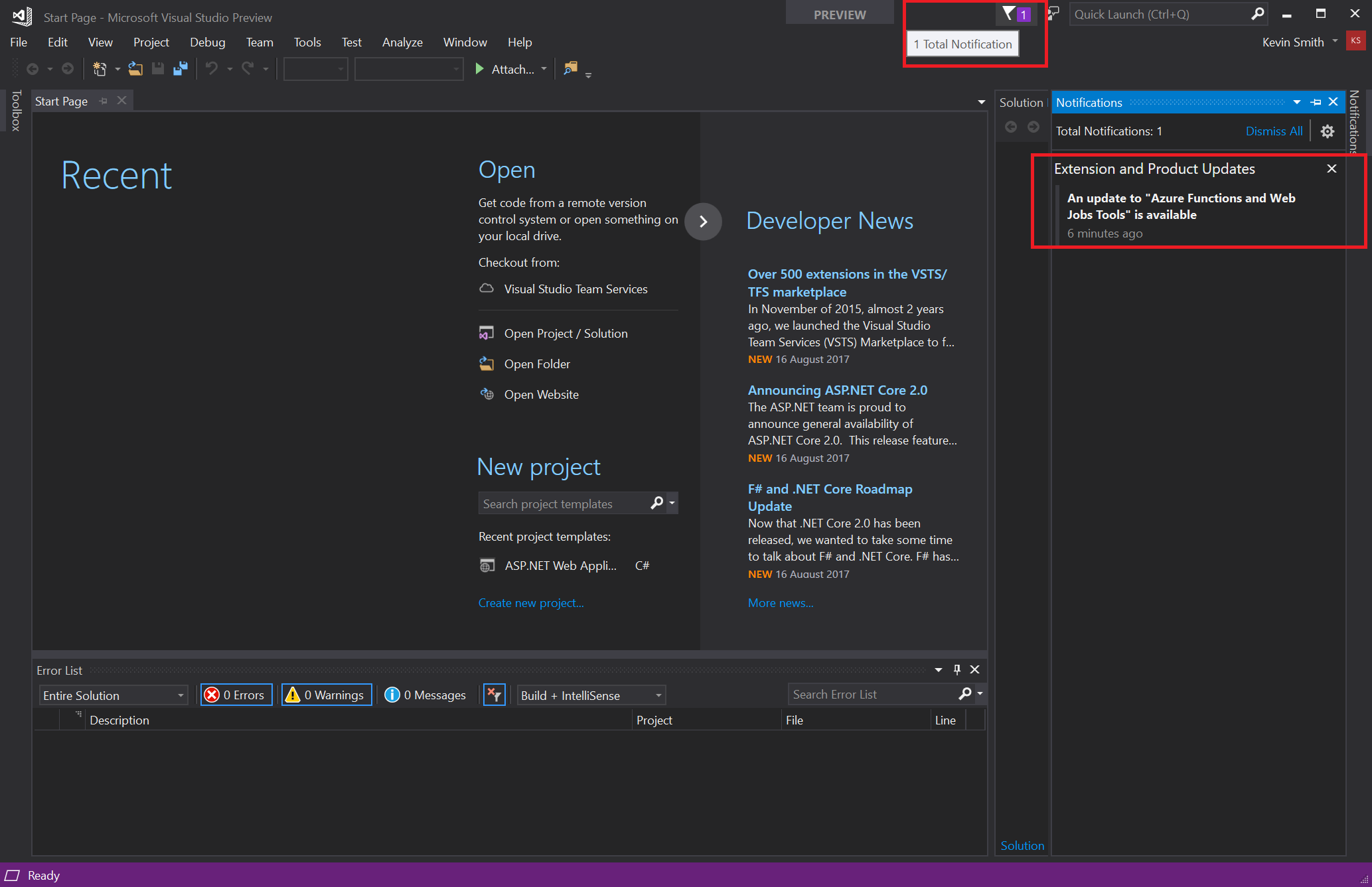 visual-studio-notification
